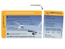Einladungskarten als Flugticket zum Geburtstag  Ticket  Einladung Boarding Pass