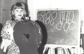 Schon als Kind wollte ich Lehrerin werden.