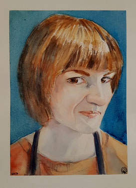 """Laura"" 22.9 x 30.5cm watercolour on paper."