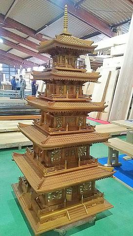 木製五重塔