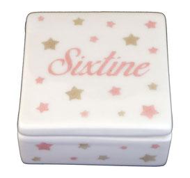 Boîte à dent en porcelaine personnalisée