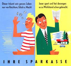 Plakat im Wiener Straßenbahn-Format 37x32 cm. Heinz Traimer 1957.