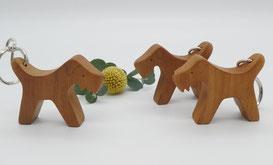 Schlüsselanhänger aus Holz, Tiere
