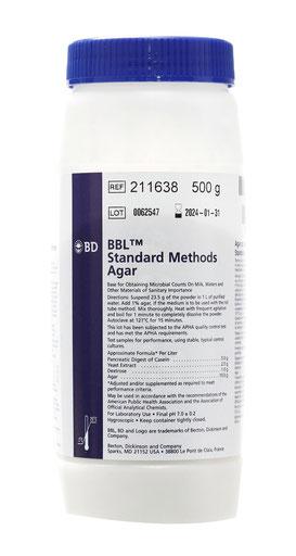 211638 BD BBL™ Agar Métodos Estándar, 500 g