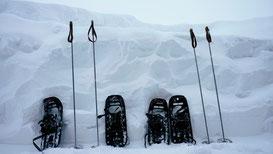 Winterurlaub in Schweden Lappland - Schneeschuh Wandern