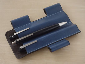 Lim Pen Sleeve Euro Kip / Lake Blue