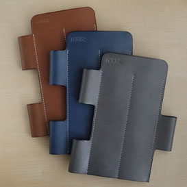 Lim Pen Sleeve Euro Kip / Brown / Lake Blue / Storm Gray