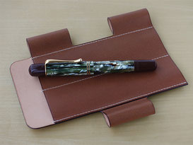 Lim Pen Sleeve Euro Kip / Brown