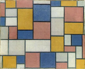 'Composition with Color Panes & Gray Lines' - Piet Mondrian (1918)