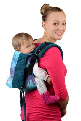Anleitung Onbuhimo, Babytrage anlegen, Bauchtrage, Rückentrage, Tutorial