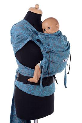 Anleitung Babytrage, Huckepack Wrap Tai, Bindeanleitung, Tutorial, Bauchtrage, Rückentrage.