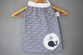 serviette de cantine baleine made in france handmade