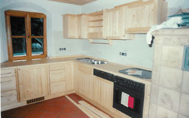 Massivholzküche aus Fichte / Ahorn, © Ladenbau Berschneider, Deining