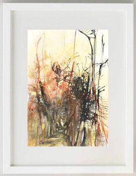 """""""Toscana - Autunno"""", 2020, China, acquerello e pastello, 20 x 30"""