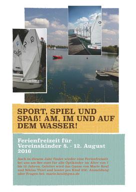 Ferienfreizeit Vereinskinder 8.-12. August 2016
