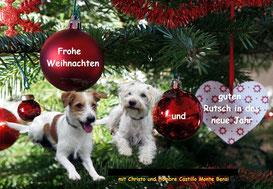 Hombre und Christo wünschen Frohe Weihnachten