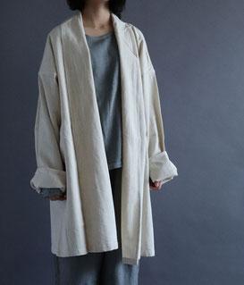 ヂェン先生の日常着 へちまえりコート