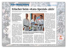 Karate Erlach, Kata-Spezial 2019