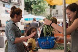Découvrir les marchés paysans dans le Gers, en Occitanie, à quelques minutes de Lassenat éco-maison d'Hôtes en Gascogne, chambre d'Hôtes de charme, table d'hôtes gourmande, bio et locavore, destination campagne, écotourisme et slowtourisme.