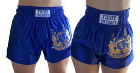 MuayThai-Shorts blau-gold