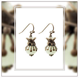Rosima ° The Glorious Poet ° Faceted Glass Earrings * Designed and Manufactured by Elfgard® Germany
