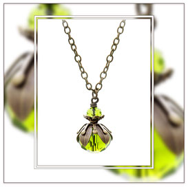Alma ° The Sparkling Bloom ° Faceted Glass Necklace * Designed and Manufactured by Elfgard® Germany