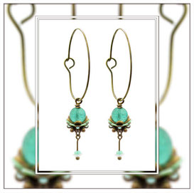 Penelofee ° The Faithful Fairy ° Tiny Noctilucent Hoops * Designed and Manufactured by Elfgard® Germany