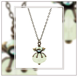 Orba ° Daughter of the Stars ° Rhinestone Glass Necklace * Designed and Manufactured by Elfgard® Germany