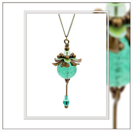 Libella ° The Twirling Spirit ° Glow in the Dark Necklace * Designed and Manufactured by Elfgard® Germany