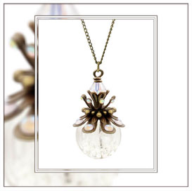 Linda ° The Pretty Flare ° Luminous Rhinestone Necklace * Designed and Manufactured by Elfgard® Germany