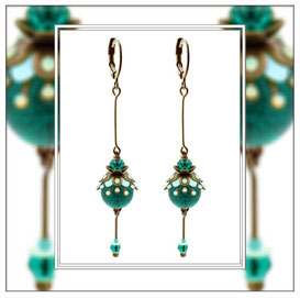 Elfmeralda ° The Twilight Pixie ° Dangling Glow Earrings * Designed and Manufactured by Elfgard® Germany