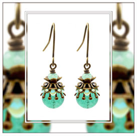 Julina ° Miss Morning Dew ° Filigree Glow Earrings * Designed and Manufactured by Elfgard® Germany