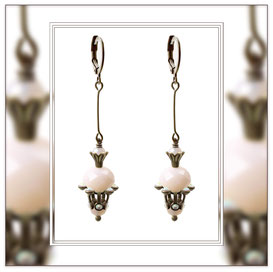 Runa ° The Keeper of Magic ° Faceted Glass Earrings * Designed and Manufactured by Elfgard® Germany