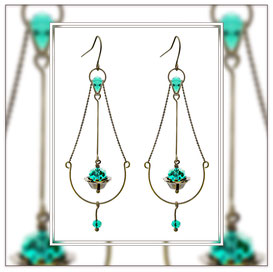 Saga ° The Mystic Aura ° Floating Dangle Earrings * Designed and Manufactured by Elfgard® Germany
