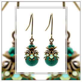 Saphira ° Little Deep Sea ° Filigree Glow Earrings * Designed and Manufactured by Elfgard® Germany
