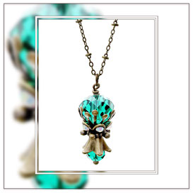 Gwenda ° The Mysterious Nymph ° Mystical Rhinestone Necklace * Designed and Manufactured by Elfgard® Germany