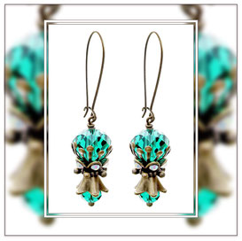 Gwenda ° The Mysterious Nymph ° Mystical Rhinestone Earrings * Designed and Manufactured by Elfgard® Germany