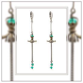 Sofia ° The Fine Soul ° Floating Flower Earrings * Designed and Manufactured by Elfgard® Germany