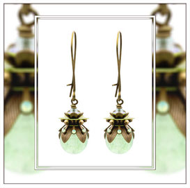 Maite ° The Magic Maiden ° Earrings with Luminous Beads  * Designed and Manufactured by Elfgard® Germany