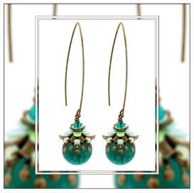 Georgina ° The Enchanted Flower ° Noctilucent Earrings * Designed and Manufactured by Elfgard® Germany