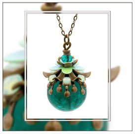 Georgina ° The Enchanted Flower ° Noctilucent Necklace * Designed and Manufactured by Elfgard® Germany