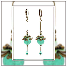 Libella ° The Twirling Spirit ° Dangling Glow Earrings * Designed and Manufactured by Elfgard® Germany