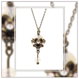 Luna ° The Eternal Healer ° Opal Rhinestone Necklace * Designed and Manufactured by Elfgard® Germany