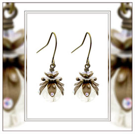 Marilla ° The Tiny Light ° Glow in the Dark Earrings * Designed and Manufactured by Elfgard® Germany