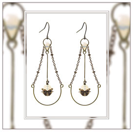 Amara ° The Endless Harmony ° Floating Dangle Earrings * Designed and Manufactured by Elfgard® Germany