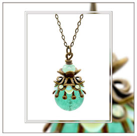 Julina ° Miss Morning Dew ° Filigree Glow Necklace * Designed and Manufactured by Elfgard® Germany