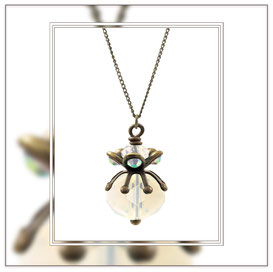 Floria ° The Wild Romantic ° Opal Rhinestone Necklace * Designed and Manufactured by Elfgard® Germany