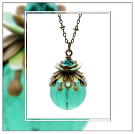 Flieda ° The Fairytale Floret ° Noctilucent Necklace * Designed and Manufactured by Elfgard® Germany