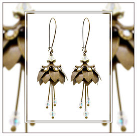 Magnolia ° The Marvelous Flower ° Luminous Flower Earrings * Designed and Manufactured by Elfgard® Germany