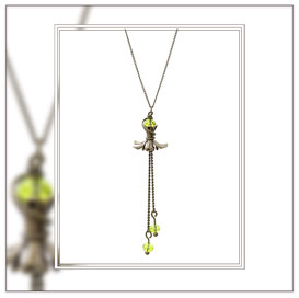 Malina ° The Weightless Flower ° Flower Dangle Necklace * Designed and Manufactured by Elfgard® Germany